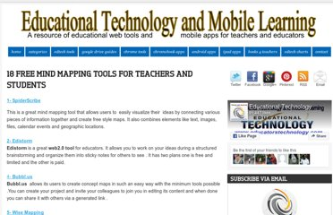 http://www.educatorstechnology.com/2012/06/18-free-mind-mapping-tools-for-teachers.html