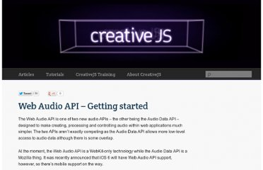 http://creativejs.com/resources/web-audio-api-getting-started/