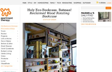 http://www.apartmenttherapy.com/rotating-bookcase-from-reclaimed-plywood-172757