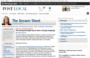 http://www.washingtonpost.com/blogs/answer-sheet/post/the-wrong-and-right-way-to-learn-a-foreign-language/2012/06/16/gJQAK2xBhV_blog.html