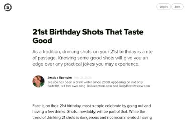 http://suite101.com/article/21st-birthday-shots-that-taste-good-a171707