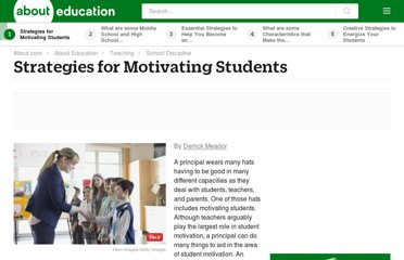 http://teaching.about.com/od/classroommanagement/a/Motivating-Students.htm