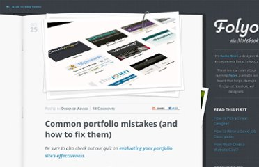http://blog.folyo.me/common-portfolio-mistakes-and-how-to-fix-them/