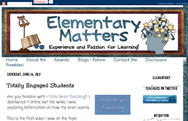 http://www.elementarymatters.com/2012/06/totally-engaged-students.html