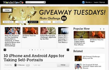 http://giveawaytuesdays.wonderhowto.com/inspiration/10-iphone-and-android-apps-for-taking-self-portraits-0129658/