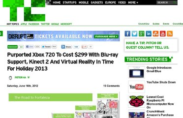 http://techcrunch.com/2012/06/16/purported-xbox-720-to-cost-299-with-blu-ray-support-kinect-2-and-virtual-reality-in-time-for-holiday-2013/