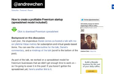 http://andrewchen.co/2009/01/19/how-to-create-a-profitable-freemium-startup-spreadsheet-model-included/