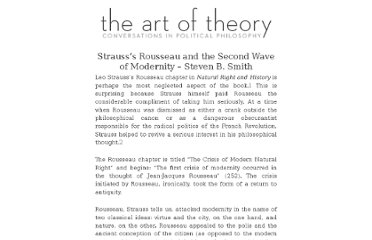 http://www.artoftheory.com/strauss%e2%80%99s-rousseau-and-the-second-wave-of-modernity-steven-b-smith/