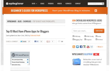 http://www.wpbeginner.com/showcase/top-10-must-have-iphone-apps-for-bloggers/