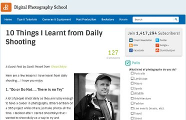 http://digital-photography-school.com/10-things-i-learnt-from-daily-shooting