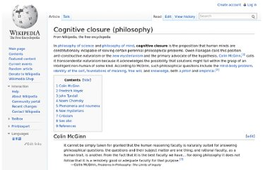 http://en.wikipedia.org/wiki/Cognitive_closure_(philosophy)