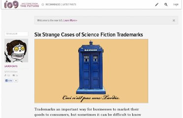 http://io9.com/5919000/six-strange-cases-of-science-fiction-trademarks