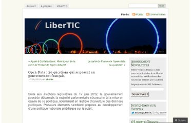 http://libertic.wordpress.com/2012/06/17/open-data-20-questions-qui-se-posent-au-gouvernement-francais/