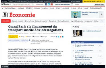 http://www.lemonde.fr/economie/article/2009/08/04/grand-paris-le-financement-du-transport-suscite-des-interrogations_1225762_3234.html#ens_id=1220011