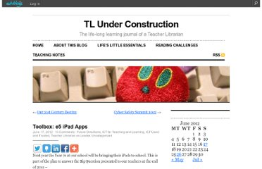 http://cathyinoz.edublogs.org/2012/06/17/toolbox-e5-ipad-apps/