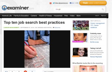 http://www.examiner.com/article/top-ten-job-search-best-practices