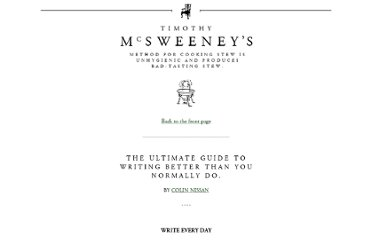 http://www.mcsweeneys.net/articles/the-ultimate-guide-to-writing-better-than-you-normally-do#
