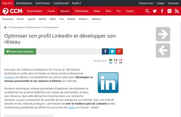 http://www.commentcamarche.net/faq/32052-optimiser-son-profil-linkedin-et-developper-son-reseau