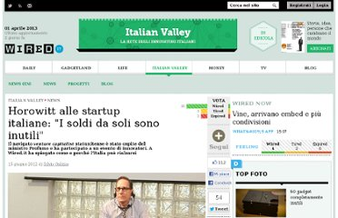 http://italianvalley.wired.it/news/2012/06/15/greg-horowitt-italia-potenziale-26768.html