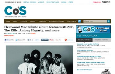 http://consequenceofsound.net/2012/06/fleetwood-mac-tribute-album-features-mgmt-the-kills-anthony-hegarty-and-more/