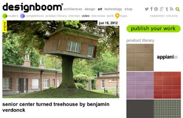 http://www.designboom.com/weblog/cat/10/view/21563/senior-center-turned-treehouse-by-benjamin-verdonck.html