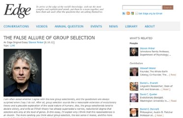 http://edge.org/conversation/the-false-allure-of-group-selection