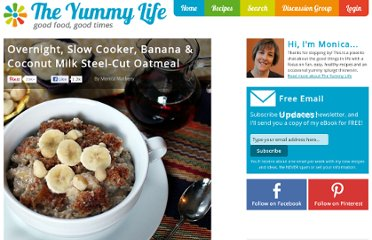 http://www.theyummylife.com/Slow_Cooker_Banana_Coconut_Milk_Oatmeal