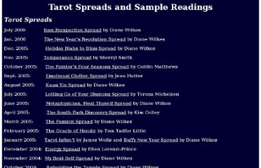 http://www.tarotpassages.com/spreads-readings.htm