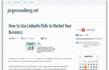 http://jorgensundberg.net/how-use-linkedin-polls-market-your-business/