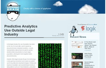 http://discoverybrain.com/legal-technology/predictive-analytics-use-outside-legal-industry/