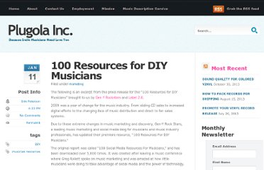 http://www.plugolainc.com/blog/100-resources-for-diy-musicians/2010/01/