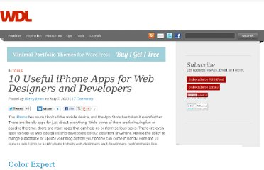 http://webdesignledger.com/tools/10-useful-iphone-apps-for-web-designers-and-developers