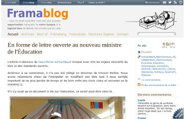 http://www.framablog.org/index.php/post/2012/06/19/vincent-peillon-enjeux-libres-standards-ouverts