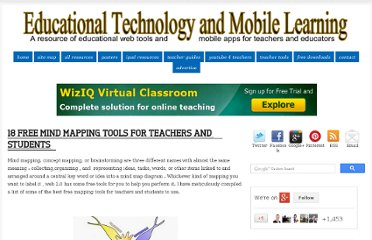 http://www.educatorstechnology.com/2012/06/18-free-mind-mapping-tools-for-teachers.html#