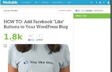 http://mashable.com/2010/05/07/wordpress-facebook-like-buttons/