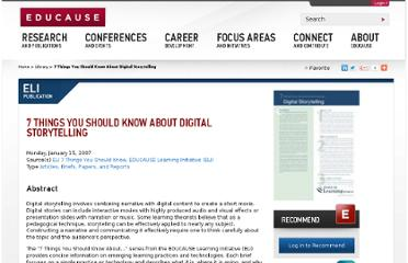 http://www.educause.edu/library/resources/7-things-you-should-know-about-digital-storytelling