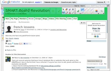 http://smartboardrevolution.ning.com/forum/topics/french-lessons