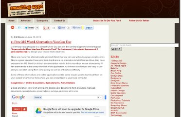 http://www.smashingapps.com/2012/06/19/11-free-ms-word-alternatives-you-can-use-2.html