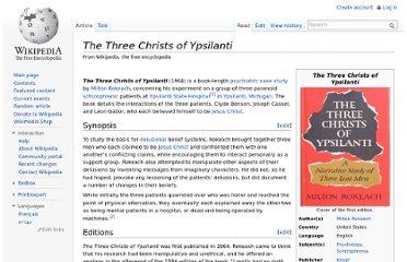 http://en.wikipedia.org/wiki/The_Three_Christs_of_Ypsilanti