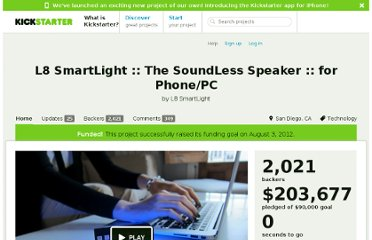 http://www.kickstarter.com/projects/l8smartlight/l8-smartlight-the-soundless-speaker