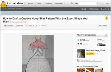http://www.instructables.com/id/How-to-Draft-a-Custom-Hoop-Skirt-Pattern-With-the-/
