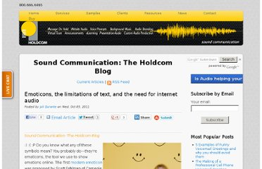http://soundcommunication.holdcom.com/bid/74501/Emoticons-the-limitations-of-text-and-the-need-for-internet-audio