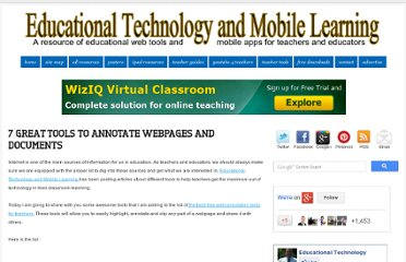 http://www.educatorstechnology.com/2012/06/7-great-tools-to-annotate-webpages-and.html