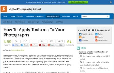 http://digital-photography-school.com/how-to-apply-textures-to-your-photographs