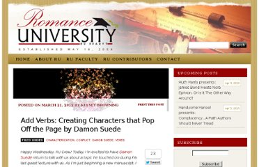 http://romanceuniversity.org/2012/03/21/power-of-verb/