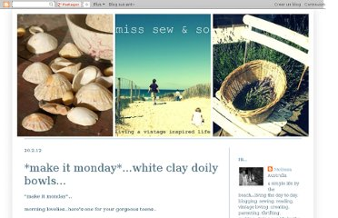 http://misssewandso.blogspot.com/2012/02/make-it-mondaywhite-clay-doily-bowls.html