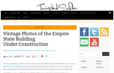 http://twistedsifter.com/2012/06/vintage-photos-of-the-empire-state-building-under-construction/