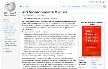 http://en.wikipedia.org/wiki/Ain%27t_Nobody%27s_Business_If_You_Do