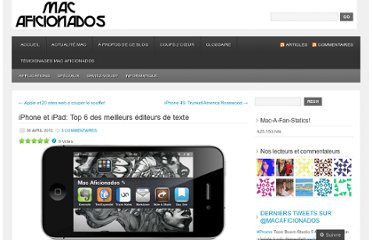http://macaficionados.wordpress.com/2012/04/30/iphone-et-ipad-top-6-des-meilleures-editeurs-de-texte/