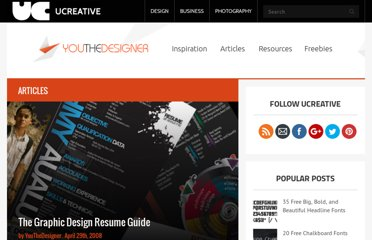 http://www.youthedesigner.com/2008/04/29/the-graphic-design-resume-guide/